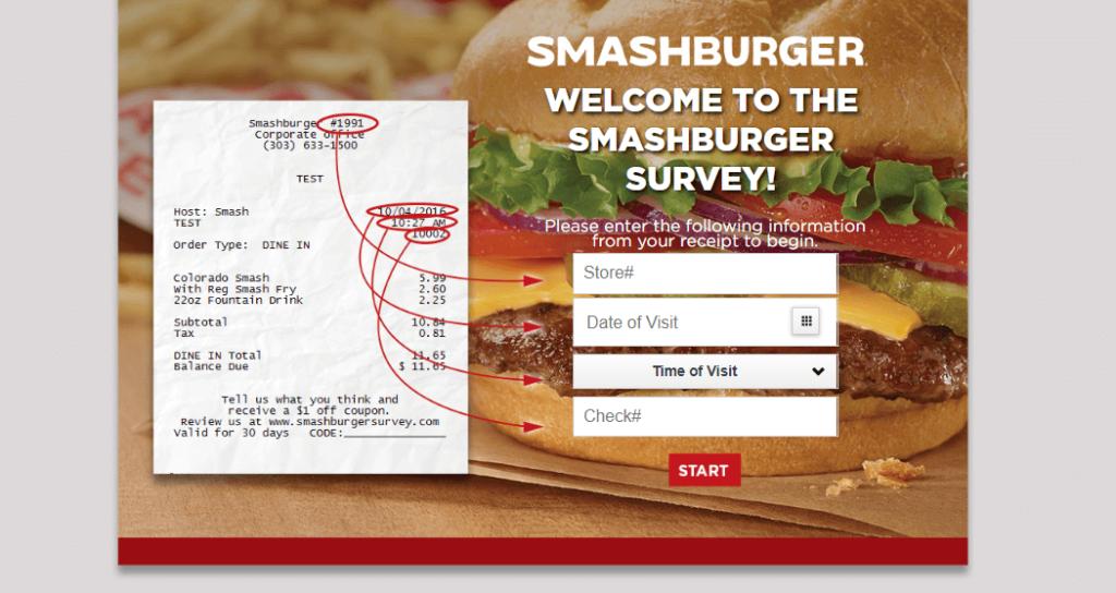 Smashburger receipt