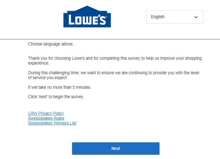 lowes.com/survey $500