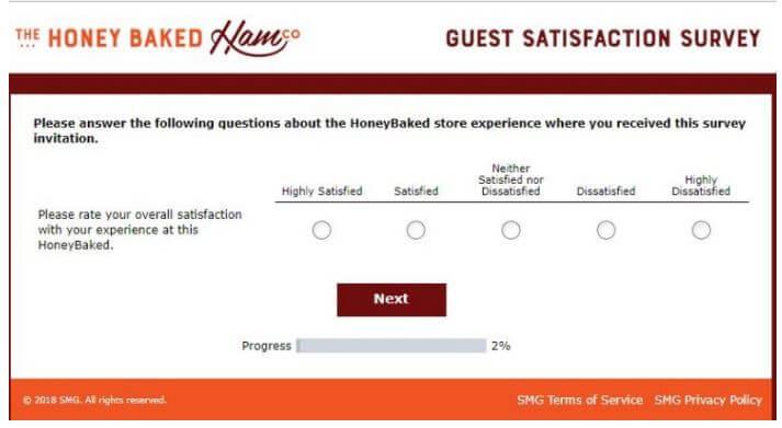 myhoneybakedfeedback Survey Code