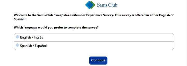 SamsClub client satisfaction survey