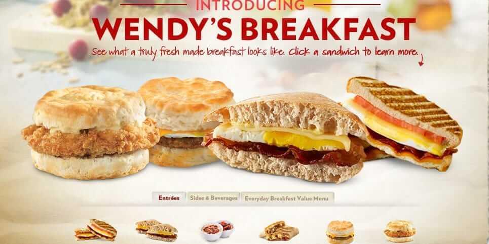 Wendys Breakfast Menu