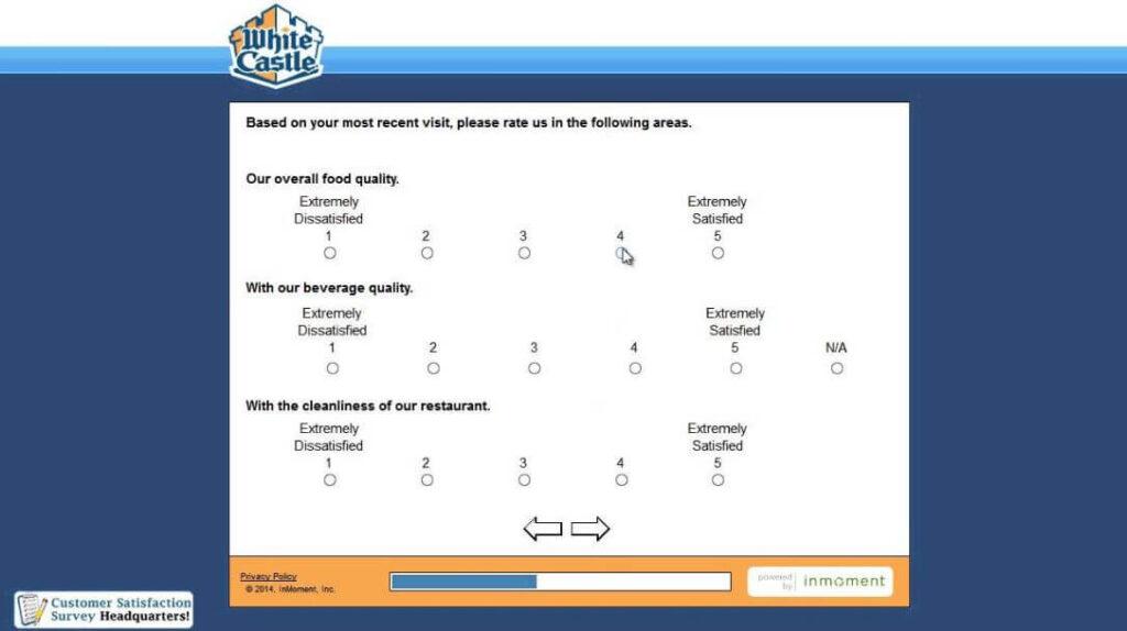 White Castle Survey Questions